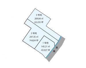 プレシアスタウン平田 区画図